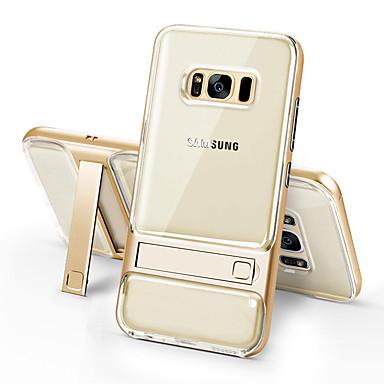 Capinha Para Samsung Galaxy S8 Plus / S8 Antichoque / Com Suporte / Transparente Capa traseira Sólido Rígida TPU para S8 Plus / S8 / S7