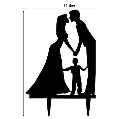حفلة الزفاف / عيد الحبّ / الفالنتين أكريليك زينة الزفاف كلاسيكيClassic Theme ربيع / صيف / خريف