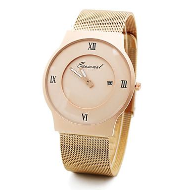 Mulheres Relógio de Pulso Venda imperdível Aço Inoxidável Banda Amuleto / Fashion Preta / Prata / Dourada