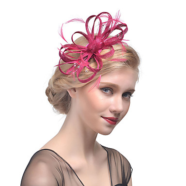 13761a3c Tulle / Rhinestone / Feather Headbands / Fascinators / Headwear with Floral  1pc Wedding / Special Occasion Headpiece #05820112
