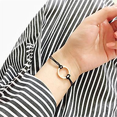 abordables Bracelet-Chaînes Bracelets Femme Mode Bracelet Bijoux Noir Marron Forme Géométrique pour Soirée Occasion spéciale Anniversaire Sports Valentin