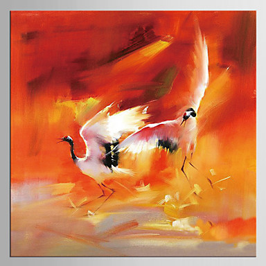 Estampado Giclée Abstrato Clássico Estilo, 1 Painel Tela de pintura Quadrada Estampado Decoração de Parede Decoração para casa