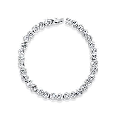 Dame Krystal Kæde & Lænkearmbånd Charm-armbånd - Krystal Armbånd Sølv Til Bryllup Fest Daglig
