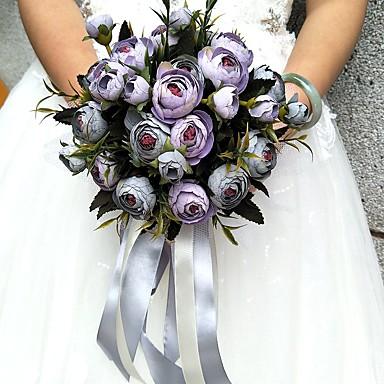 Bouquets de Noiva Buquês / Outros / Flor Artificial Casamento / Festa / Noite Material / Renda / Cetim 0-20cm