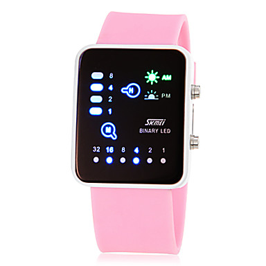 cheap Women's Digital Watches-Women's Wrist Watch Square Watch Digital Silicone Pink / Yellow / Rose Digital Ladies Charm Fashion - Yellow Rose Pink Two Years Battery Life / Maxell626+2025