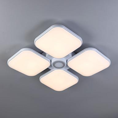 모던/콘템포라리 전통적/ 클래식 밝기조절가능 LED 원격 제어로 조광 가능 플러쉬 마운트 엠비언트 라이트 거실 침실 다이닝룸 서재/오피스 플라스틱 전구 포함 110-120V 220-240V 웜 화이트 원격 제어로 조광 가능 4300lm