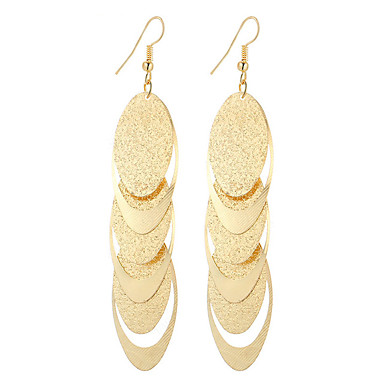 Mulheres Brincos Compridos - Prata Chapeada, Chapeado Dourado Pingente, Vintage, Boêmio Dourado / Prata Para Presentes de Natal Casamento Festa
