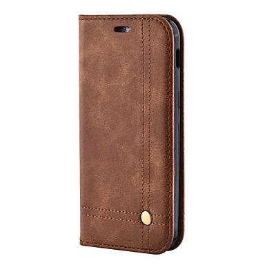 Capinha Para Samsung Galaxy S8 Plus S8 Porta-Cartão Carteira Com Suporte Flip Magnética Capa Proteção Completa Sólido Rígida PU Leather