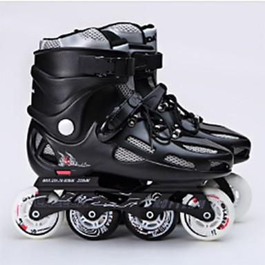 Herrn Damen Erwachsene Inline-Skates tragbar Wasserdicht Komfortabel Weiß/Schwarz