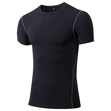 Homens Camiseta de Corrida Manga Curta Secagem Rápida Respirável Redutor de Suor Confortável Camiseta Roupas de Compressão Blusas para