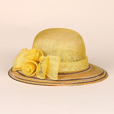 السلال / ألياف الكتان قبعات مع 1 زفاف / مناسبة خاصة / فضفاض خوذة