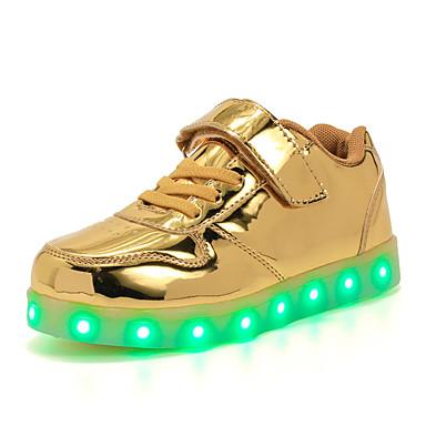 운동화-야외 캐쥬얼 운동-남아-첫 신발 신발에 불 빛나는 구두-PU-낮은 굽-