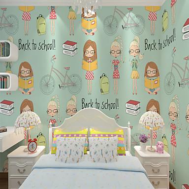 Art Deco 3D Decoração para casa Moderna Revestimento de paredes, Tela de pintura Material adesivo necessário papel de parede, Cobertura