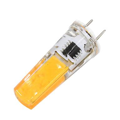 2W 180-200 lm G8 Luminárias de LED  Duplo-Pin T 1 leds COB Regulável Branco Quente AC 110-120V