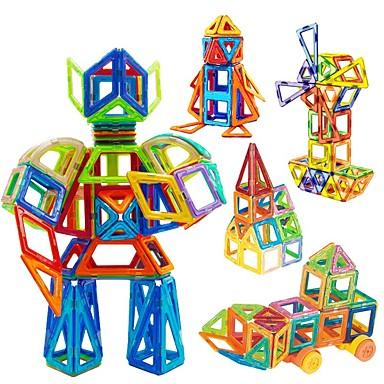 abordables Blocs Magnétiques-Blocs Magnétiques Carreaux magnétiques Blocs de Construction 98 pcs Automatique Robot Grande roue compatible Legoing Magnétique Garçon Fille Jouet Cadeau