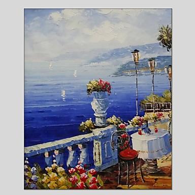 Pintados à mão Paisagem Panorâmico vertical, Clássico Modern Tela de pintura Pintura a Óleo Decoração para casa 1 Painel