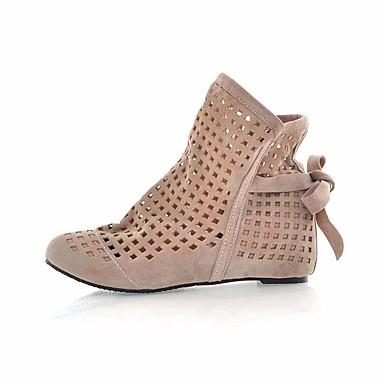 Dámské Boty PU Jaro Pohodlné Sandály Pro Ležérní Černá Béžová Červená