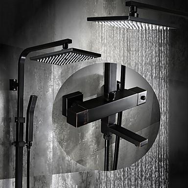 حنفية دش - أنتيك برونز مفروك بزيت في وسط صمام سيراميكي