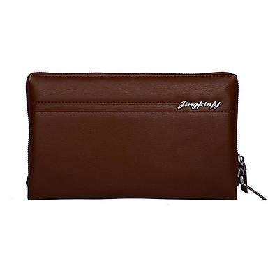 Pánské Tašky PU Polyester Peněženky Zip pro Formální Kancelář a kariéra Profesionální použití Celý rok Černá Kávová Khaki