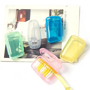 Fonoun بلاستيك علبة فرشاة الأسنان للسفر منظم أغراض السفر مكتشف الرطوبة المحمول خفيف جدا (UL) مكتشف الغبار ضد البكتيريا مرطب يدين