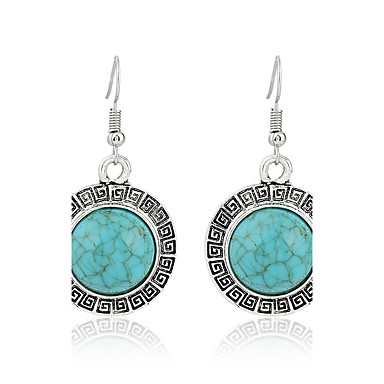 cheap Earrings-Women's Turquoise Simple Style Fashion Euramerican Earrings Jewelry Green For Wedding Party Birthday Gift