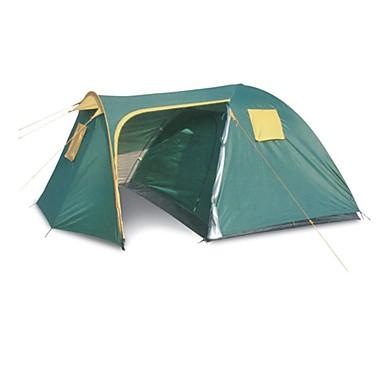 7 pessoa Tenda Dupla Camada Barraca de acampamento Ao ar livre Barraca de Acampamento Familiar para Campismo / Viajar
