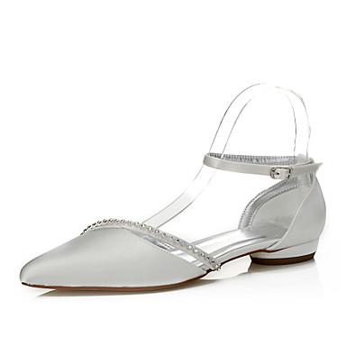 ce2a0d59e6c Dámské Boty Hedvábí Jaro   Podzim Pohodlné   barvitelného Boty Svatební obuv  Nízký podpatek Palec do