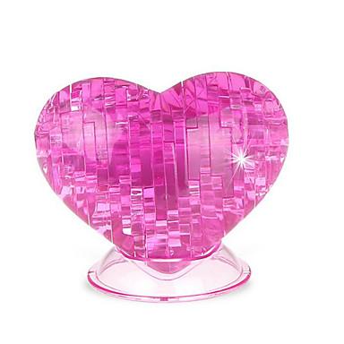 Quebra-Cabeças 3D Quebra-Cabeças de Cristal Rose Coração Diversão Plástico Clássico Crianças Unisexo Dom