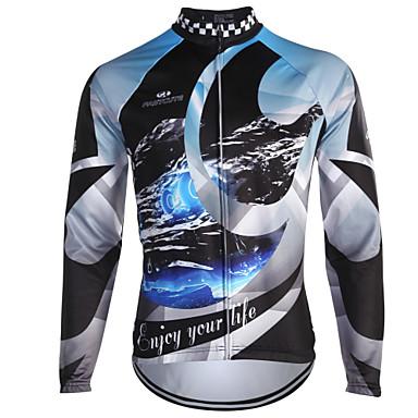 Fastcute Camisa para Ciclismo Homens Manga Longa Moto Blusas Inverno Tosão Roupa de Ciclismo Térmico/Quente A Prova de Vento Clássico