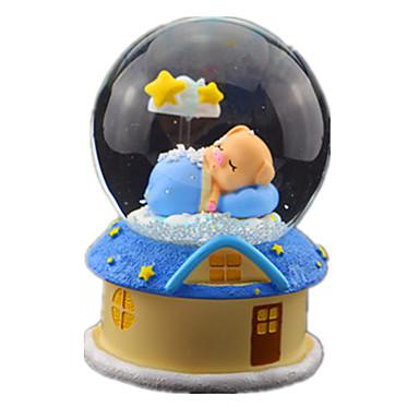Caixa de música Globo de neve Porco Clássico Brilha no Escuro Crianças Adulto Infantil Dom Unisexo