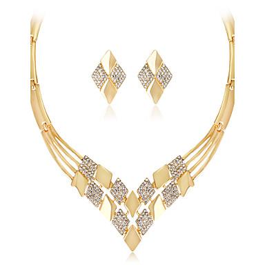Mulheres Geométrica Conjunto de jóias - Strass Fashion, Euramerican Incluir Colar Dourado Para Casamento Festa Ocasião Especial