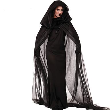 Hexe Cosplay Kostüme Party Kostüme Damen Weihnachten Halloween Karneval Fest / Feiertage Halloween Kostüme Austattungen Schwarz Vintage
