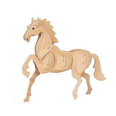 voordelige 3D-puzzels-3D-puzzels Modelbouwsets Houten modellen Paard Plezier Hout Klassiek Kinderen Unisex Speeltjes Geschenk