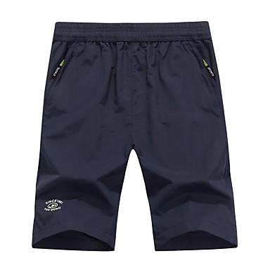 Homens Shorts de Trilha Ao ar livre Secagem Rápida, Respirável Calças Acampar e Caminhar / Caça
