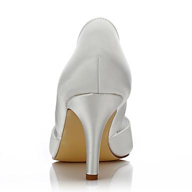 Chaussures Chaussures Evénement Printemps Chaussures 05815820 ouvert Chaussures Soirée Soie Talon Confort rond de de mariage Femme Aiguille Bout Mariage Eté Dyeable Ivoire club amp; Bout x0q8pwvgn