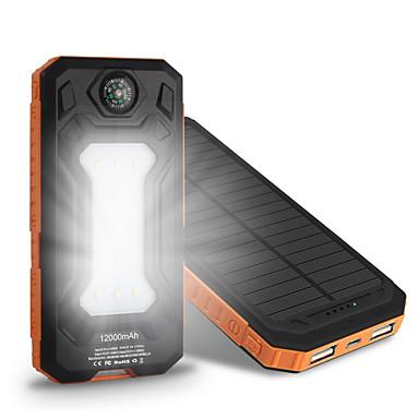 10000mAh banco do poder de bateria externa 5V 1.0A 2.0AA Carregador de bateria Output Múltiplo Recarga com Energia Solar Ultra Fino