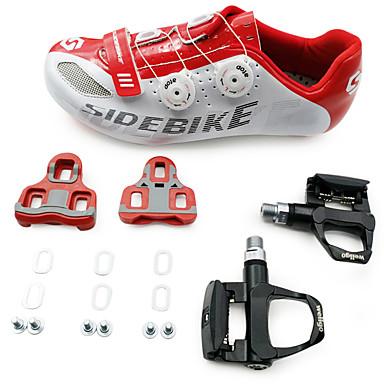 SIDEBIKE Cykelsko m. pedal og tåjern Sko til landevejscykling Voksne Anti-glide Anti-Rystelse Dæmpning Ultra Lys (UL) Vej Cykel udendørs