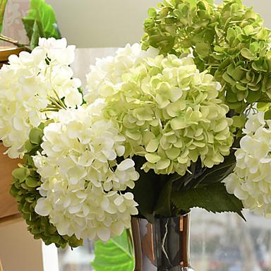 halpa Tekokukat-Keinotekoinen Flowers 1 haara European Style Hortensiat Pöytäkukka