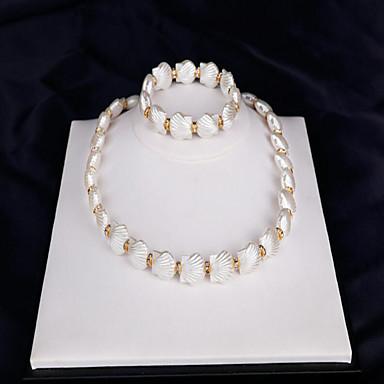 Mulheres Conjunto de jóias - Pérola, Concha Fashion Incluir Sets nupcial Jóias Branco Para Casamento / Festa / Ocasião Especial