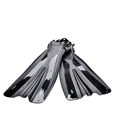 Fins de Mergulho / Barbatanas Pala Longa, Alça Ajustável Natação, Mergulho, Snorkeling PVC - para Adulto Preto