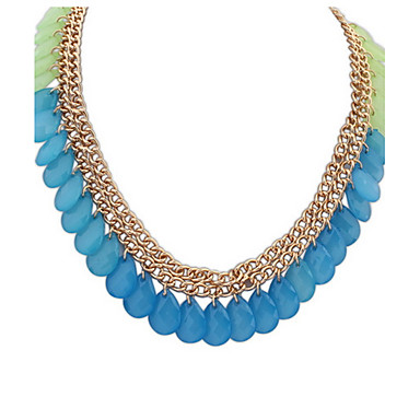 Damen Halsketten Schmuck Perle Tropfen Harz Aleación Basis Einzigartiges Design Acryl Freundschaft Multi-Wege Wear nette Art Euramerican