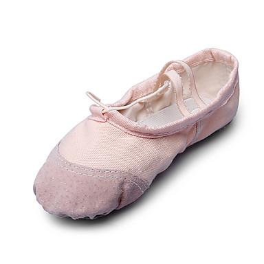 للمرأة أحذية باليه قماش مسطح كعب مسطخ غير مخصص أحذية الرقص البيج / أحمر / زهري / داخلي