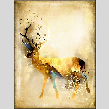هانغ رسمت النفط الطلاء رسمت باليد - حيوانات كلاسيكي الحديث كنفا