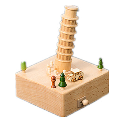 voordelige 3D-puzzels-Muziekdoos Modelbouwsets Houten modellen Muovi Kinderen Volwassenen Unisex Jongens Meisjes Speeltjes Geschenk