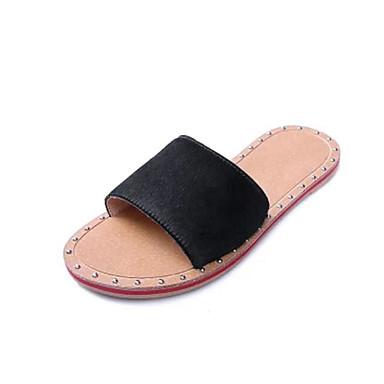 여성 샌들 슬링백 여름 PU 캐쥬얼 화이트 블랙 2.5cm- 4.5cm