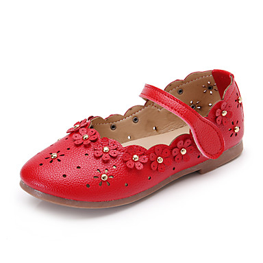 Mädchen Outdoor Loch Schuhe Komfort Schuhe für das Blumenmädchen PU Frühling Sommer Normal Party & Festivität Kleid Blume Klettverschluss