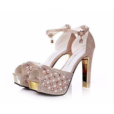 Chaussures Champagne Chaussures Polyuréthane 05756500 à de Chaussures club Talons Décontracté titane Talon Femme pour Eté Aiguille dnHwqYd6