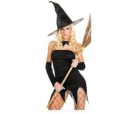 Cosplay Kostýmy Čaroděj/Čerodějnice Festival/Svátek Halloweenské kostýmy Ostatní Šaty Klobouky Halloween Dámské Spandex Terylen