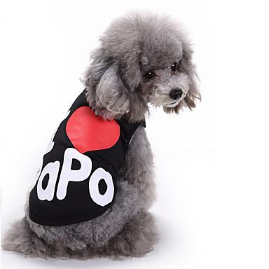 Gato Cachorro Camiseta Colete Roupas para Cães Carta e Número Preto Cinzento Algodão Ocasiões Especiais Para animais de estimação Homens