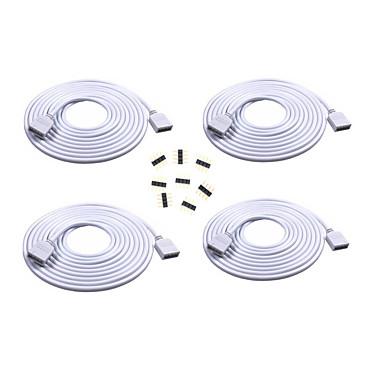 hesapli Aydınlatma Aksesuarları-4 adet 2 m uzun uzatma kablosu kadın fişi bağlayın rgb 3528 5050 şerit ile 8 adet 4pin konnektörler erkek